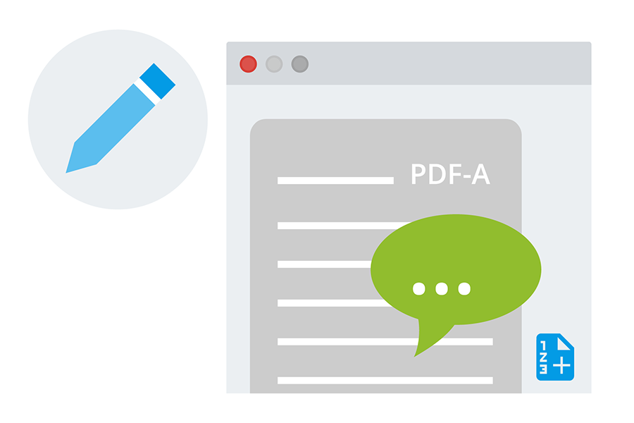 pdf editor annotation kommentare ecodms